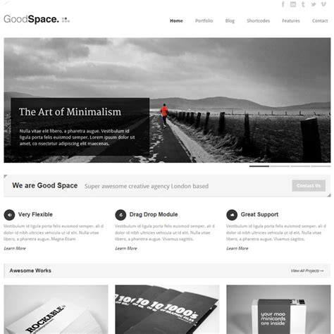 themes wordpress minimal good space responsive minimal wordpress theme best