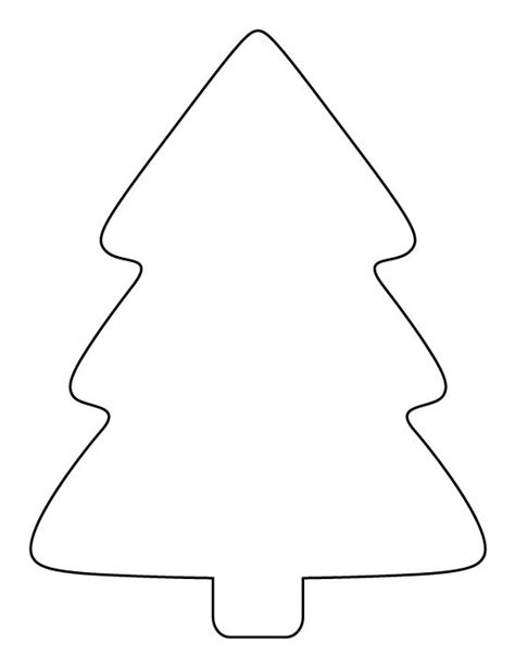 printable simple christmas tree pattern use the pattern
