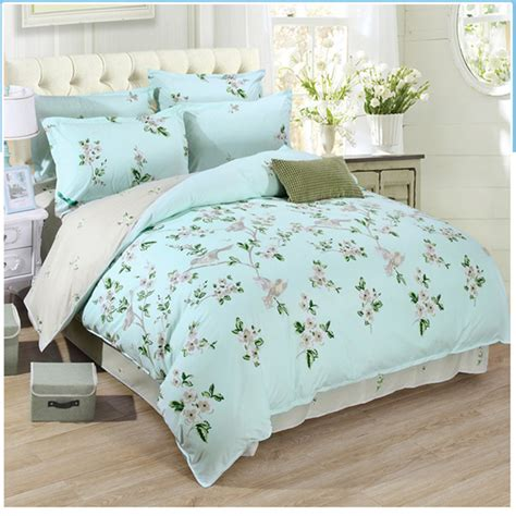 queen size bedding aloe cotton blend blue king queen size 4pcs bedding