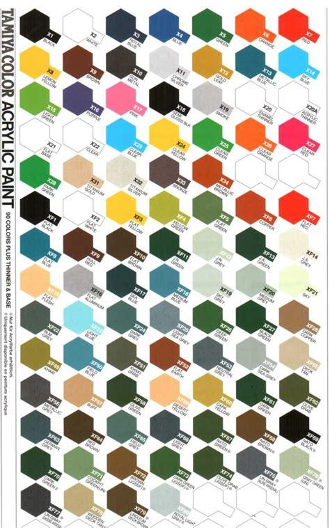 tamiya color chart tamiya arcrylic color scale model scale