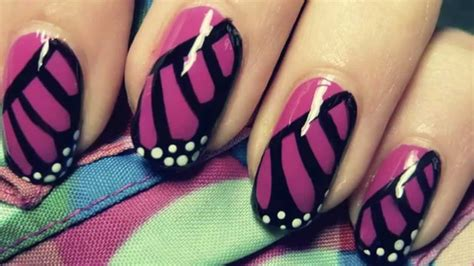 nail art tutorial butterfly monarch butterfly wing nail art tutorial youtube