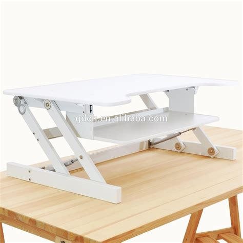 desktop adjustable standing desk portable wooden desktop table folding adjustable laptop