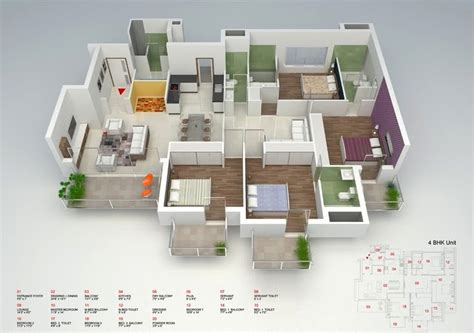 Open Floor Plan Layout 50 four 4 bedroom apartment house plans architecture
