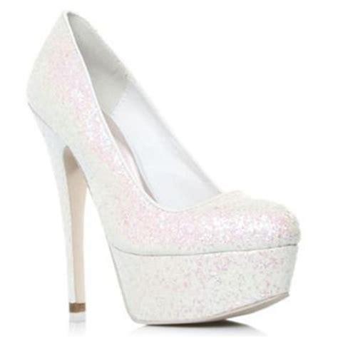 white ramona high heel shoes from debenhams solemates