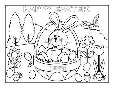 Happy Easter Coloring Pages Free Large Images Coloring Pages For Easter