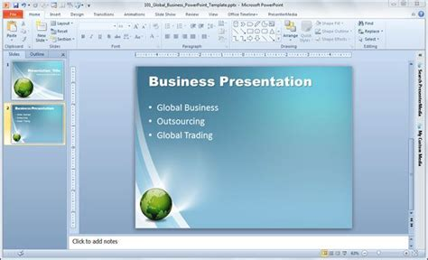 powerpoint templates for corporate presentations free global business powerpoint template