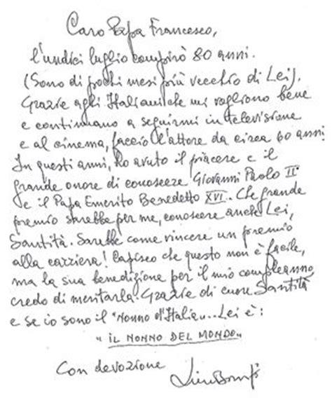 ecco la lettera di lino banfi a papa francesco famiglia