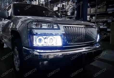 Chevy Colorado Lights by 04 11 Chevrolet Colorado Black Dual Halo Projector Led