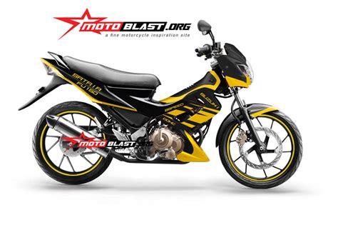 Striping Variasi Suzuki Satria Fu Facelift Ijo 2013 2015 suzuki satria fu black simple hitech motoblast