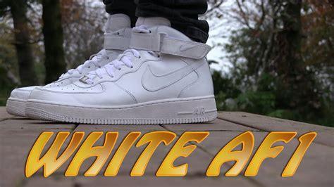 nike air force  mid  white  feet youtube
