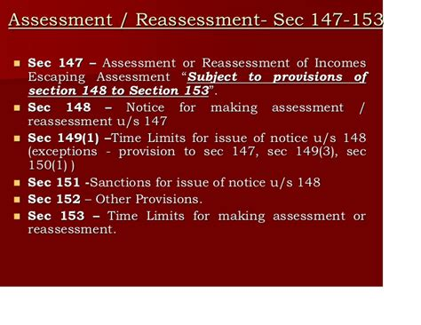 section 153 of income tax act assessment reassessment bose