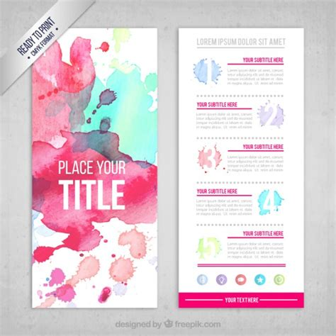 free artistic resume template artist artistic watercolor
