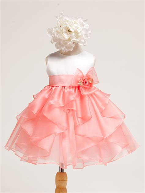 baby dress white yellow layered organza ruffle skirt baby dress