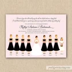 invitation to be a bridesmaid bridesmaids luncheon invitation bridal brunch diy printable invit