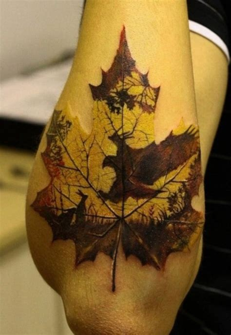 leaf pattern tattoo 59 daring but cute leaf tattoo designs