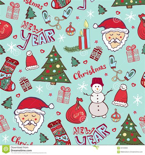 christmas patterns early years bright christmas pattern new year cute doodle seamless