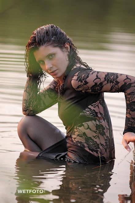 wetlook  curly girl  sexy black dress stockings