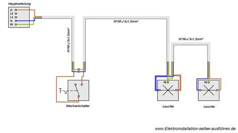 elektroinstallation wohnung schaltplan einer ausschaltung elektroinstallation selber