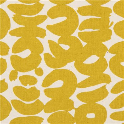 Leopard Yellow Mustard canvas fabric with mustard yellow leopard print shape by