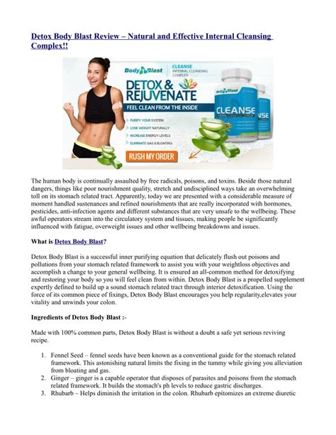 Detox Blast Free Trial by Ppt Detox Blast Review And Effective