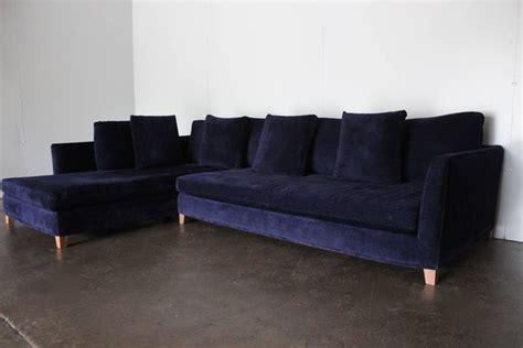 blue velvet l shaped sofa flexform quot victor quot sectional l shape sofa in navy blue