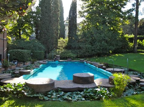 piscina le cupole firenze pietro porcinai works garden with swimming pool and