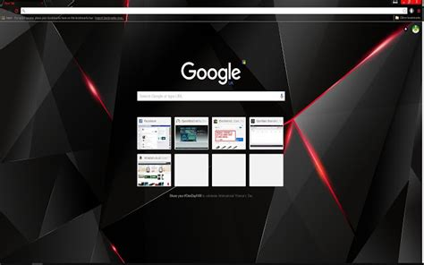 google wallpaper shop black red shards chrome ウェブストア