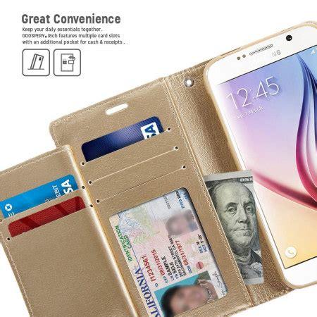 Walet Premium Gold Berkualitas mercury rich diary samsung galaxy s6 premium wallet gold