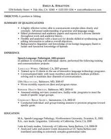 Exle Of Work Resume by Resume Sle For An Editor Susan Ireland Resumes