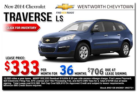 new 2015 chevy traverse lease sales specials portland