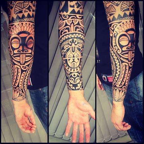 samoan wrist tattoos cliente ja tinha a parte de cima fiz todo antebra 231 o