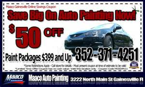 Car Paint Deals Save 50 Dollars Instantly Maaco Auto Painting Gainesville