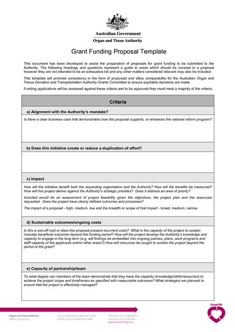 Template For Funding template for funding grant template e commercewordpress