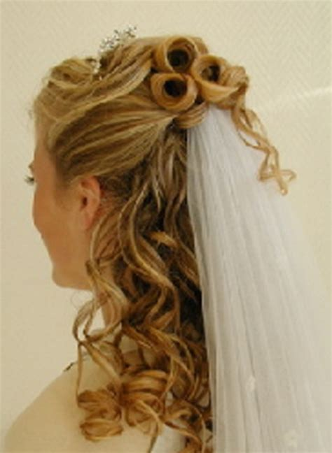 Wedding Hairstyles Hair Half Up With Veil by Wedding Hair Half Up Half With Veil