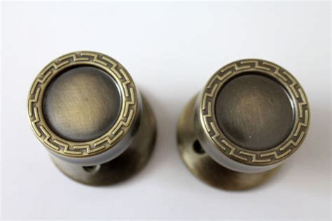 Mid Century Door Knobs by Mid Century Modern Gold Tone Door Knobs Handles By Rhanvintage