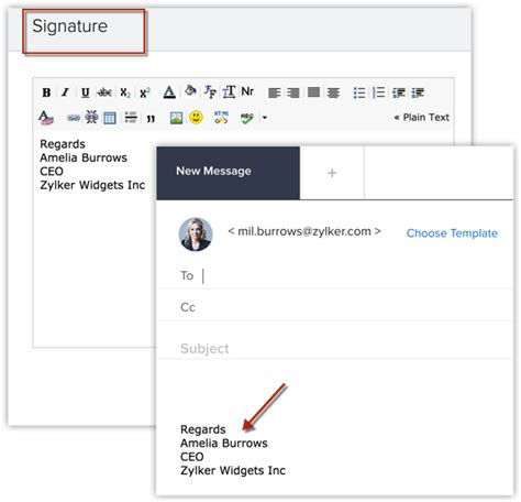email zoho composing an email online help zoho salesinbox