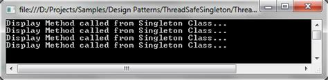 repository pattern thread safe mitesh sureja s blog thread safe singleton pattern multi