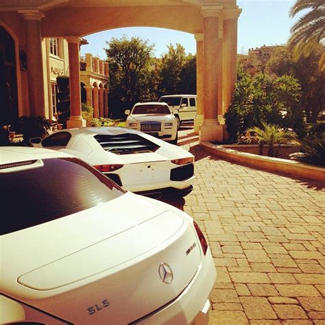 Tyga House by Tyga Shows His Driveway Cars
