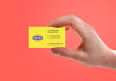 holding business card mockup psd graphicsfuel