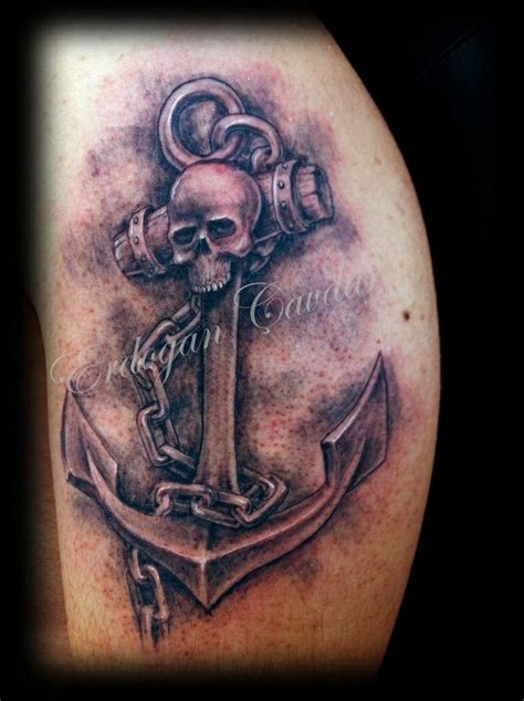 skull anchor tattoo tattoos pinterest dad tattoos