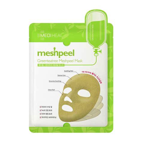 Masker Mediheal yoskin mediheal greenteatree meshpeel mask