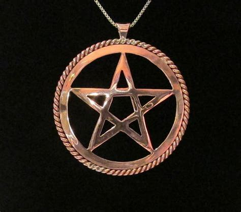 Handmade Wiccan Jewelry - pentagram necklace pentacle pendant handmade wiccan by