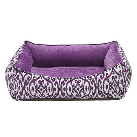 purple dog bed bowsers oslo ortho dog bed