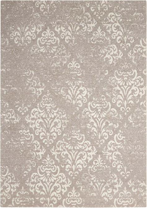grey damask rug nourison damask das03 ivory grey rug