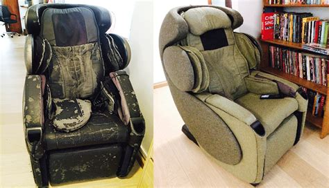 massage chair upholstery massage chair for parents www hardwarezone com sg