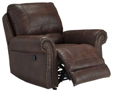 leather rocker recliner chairs ashley breville faux leather rocker recliner espresso