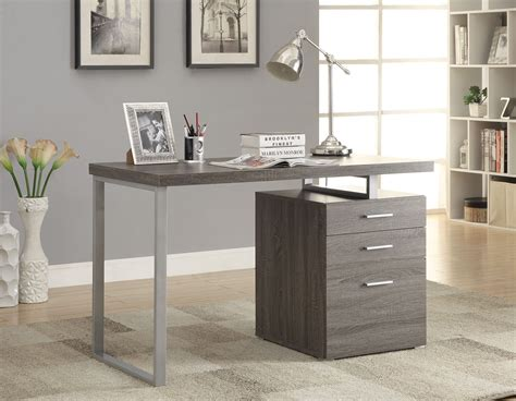 weathered wood writing desk hilliard weathered gray writing desk from coaster 800520