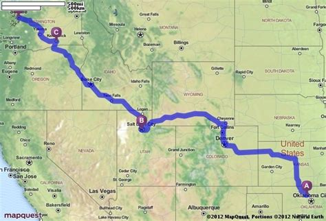 seattle mapquest driving directions from enid oklahoma to seattle