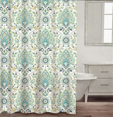 Navy And Taupe Curtains 100 Cotton Shower Curtain Turquoise Aqua