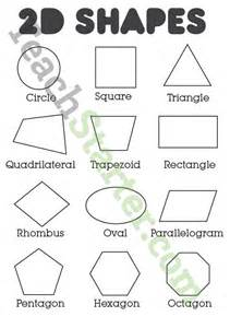 2d shapes and their names on one poster education pinterest